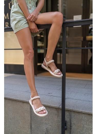 Madamra Spor Sandalet Bej